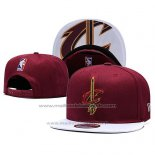 Casquette Cleveland Cavaliers Snapback Rouge Blanc