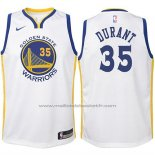 Maillot Enfant Golden State Warriors Kevin Durant #35 2017-18 Blanc