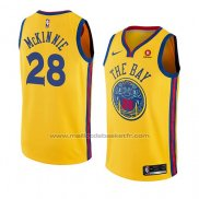 Maillot Golden State Warriors Alfonzo Mckinnie #28 Ville 2018-19 Jaune
