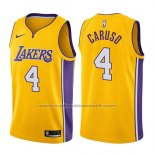 Maillot Los Angeles Lakers Alex Caruso #4 Icon 2017-18 Or