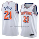 Maillot New York Knicks Damyean Dotson #21 Statement 2018 Blanc