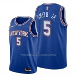 Maillot New York Knicks Dennis Smith Jr. #5 Statement Bleu