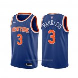 Maillot New York Knicks Maurice Harkless #3 Icon Bleu