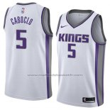 Maillot Sacramento Kings Bruno Caboclo #5 Association 2018 Blanc
