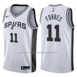 Maillot San Antonio Spurs Bryn Forbes #11 Swingman Association 2017-18 Blanc