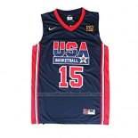 Maillot USA 1992 Magic Johnson #15 Noir