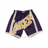 Short Los Angeles Lakers Mitchell & Ness Big Face Jaune Volet