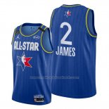Maillot All Star 2020 Los Angeles Lakers Lebron James #2 Bleu
