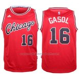 Maillot Chicago Bulls Pau Gasol #16 Retro Rouge