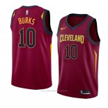 Maillot Cleveland Cavaliers Alec Burks #10 Icon 2018 Rouge