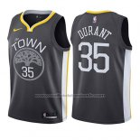Maillot Enfant Golden State Warriors Kevin Durant #35 Statement 2017-18 Gris