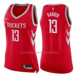 Maillot Femme Houston Rockets James Harden #13 Icon 2017-18 Rouge