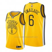 Maillot Golden State Warriors Alen Smailagic #6 Earned Jaune