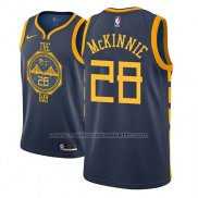 Maillot Golden State Warriors Alfonzo Mckinnie #28 Ville 2018-19 Bleu