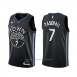 Maillot Golden State Warriors Eric Paschall #7 Ville 2019-20 Noir