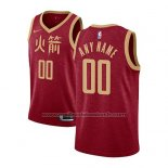 Maillot Houston Rockets Personnalise Ville 2018-19 Rouge