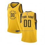 Maillot Indiana Pacers Personnalise Statement 2017-18 Jaune