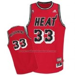 Maillot Miami Heat Alonzo Mourning #33 Retro Rouge