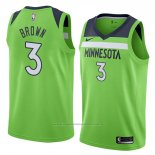 Maillot Minnesota Timberwolves Anthony Brown #3 Statement 2018 Vert
