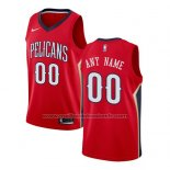 Maillot New Orleans Pelicans Personnalise 17-18 Rouge