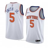 Maillot New York Knicks Dennis Smith Jr. #5 Statement 2018 Blanc