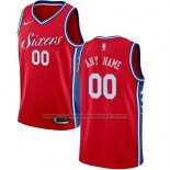 Maillot Philadelphia 76ers Personnalise 17-18 Rouge