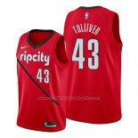 Maillot Portland Trail Blazers Anthony Tolliver #43 Earned Rouge