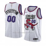 Maillot Toronto Raptors Personnalise Classic Edition 2019-20 Blanc