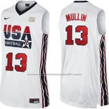 Maillot USA 1992 Chris Mullin #13 Blanc
