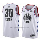 Maillot All Star 2019 Golden State Warriors Stephen Curry #30 Blanc