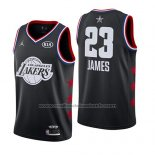 Maillot All Star 2019 Los Angeles Lakers Lebron James #23 Noir
