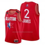Maillot All Star 2020 Los Angeles Lakers Lebron James #2 Rouge