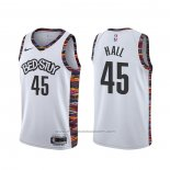 Maillot Brooklyn Nets Donta Hall #45 Ville 2020 Blanc