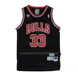 Maillot Chicago Bulls Scottie Pippen #33 Retro Noir