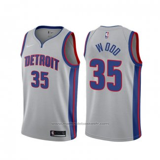 Maillot Detroit Pistons Christian Wood #35 Statement Gris