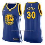 Maillot Femme Golden State Warriors Stephen Curry #30 Icon 2017-18 Bleu