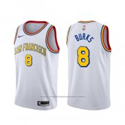Maillot Golden State Warriors Alec Burks #20 Classic Edition 2019-20 Blanc