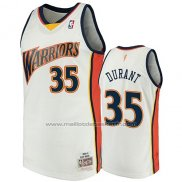 Maillot Golden State Warriors Kevin Durant #35 2009-10 Hardwood Classics Blanc