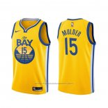 Maillot Golden State Warriors Mychal Mulder #15 Statement Jaune