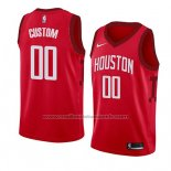 Maillot Houston Rockets Personnalise Earned 2018-19 Rouge