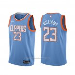 Maillot Los Angeles Clippers Lou Williams #23 Ville Bleu