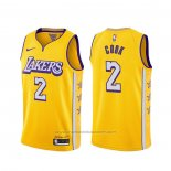 Maillot Los Angeles Lakers Quinn Cook #2 Ville 2019-20 Jaune