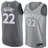 Maillot Minnesota Timberwolves Andrew Wiggins #22 Ville 2018 Gris