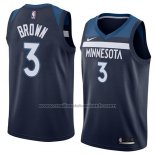 Maillot Minnesota Timberwolves Anthony Brown #3 Icon 2018 Bleu