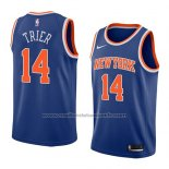 Maillot New York Knicks Allonzo Trier #14 Icon 2018 Bleu