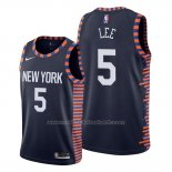 Maillot New York Knicks Courtney Lee #5 Ville Edition Bleu