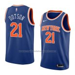 Maillot New York Knicks Damyean Dotson #21 Icon 2018 Bleu