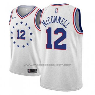 Maillot Philadelphia 76ers T.j. Mcconnell #12 Earned 2018-19 Gris