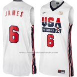 Maillot USA 1992 Lebron James #6 Blanc