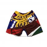 Short Los Angeles Lakers Mitchell & Ness Big Face Rainbow